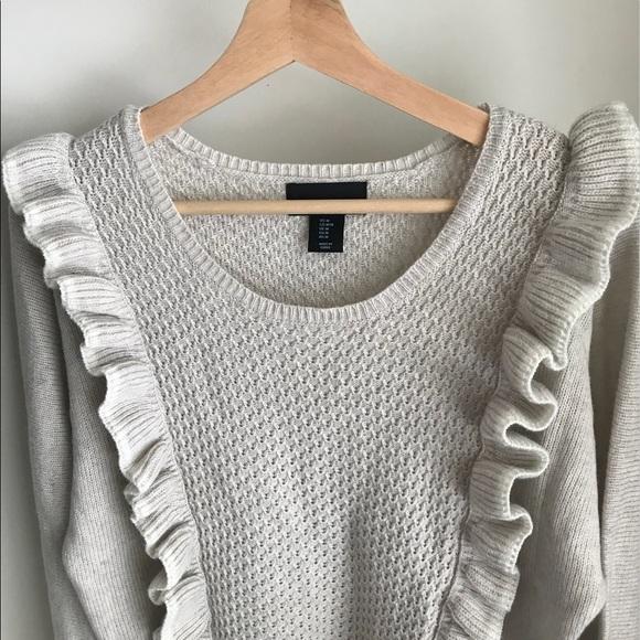 Anthropologie Cynthia Rowley Ruffle Sweater-Large